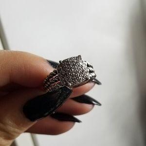 David Yurman Pave Diamonds Petite Wheaton Ring 6